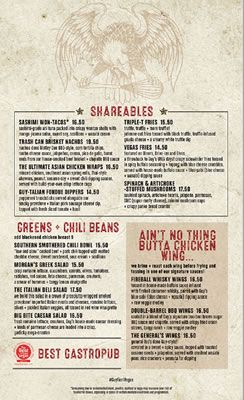 Guy Fieri Vegas Kitchen Menu