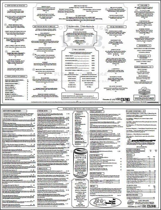 Todd English PUB menu