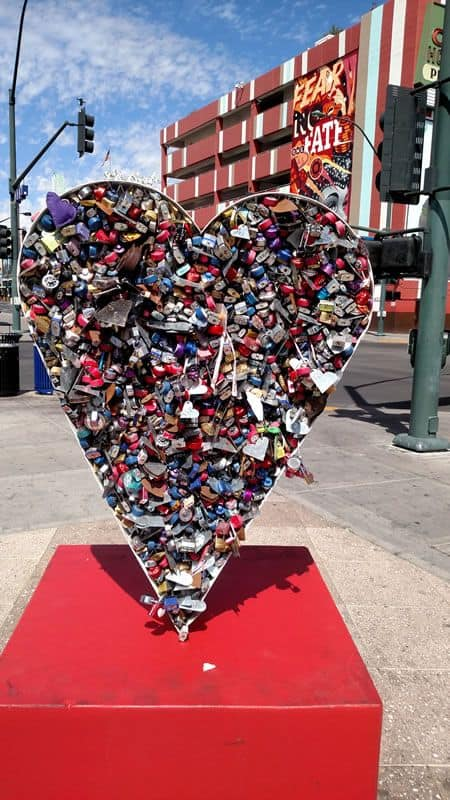 Love Lock at the Container Park Sept 2016