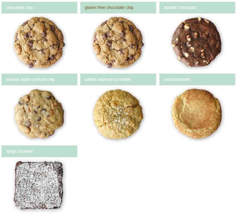 Sprinkles Cookie menu
