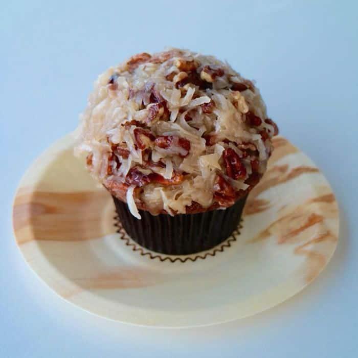 german chocolate cupcake sprinkles