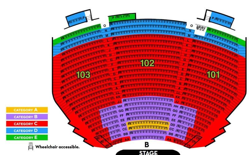 Terry Fator Theatre Seating Chart