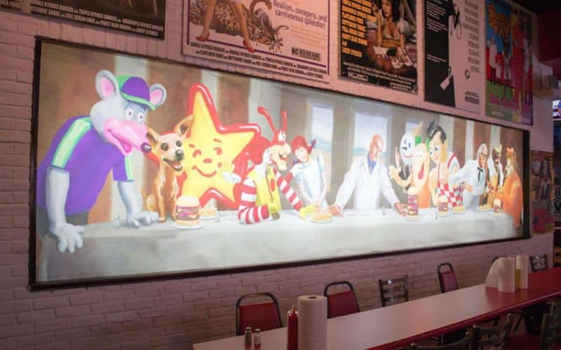 heart attack grill wall