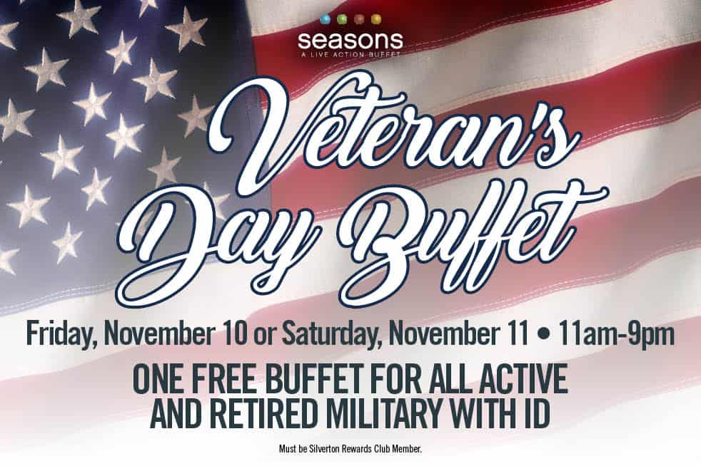 Silverton Veterans Day Buffet